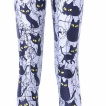 Cute Cartoon Black Cat Leggings