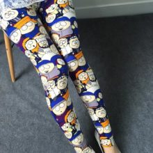 Comic Cartoon Printed Leggings