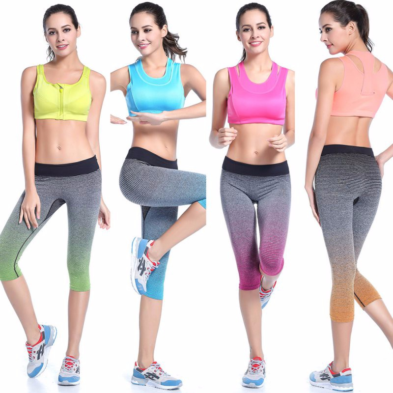 Elastic Fitness Capri Women's Leggings