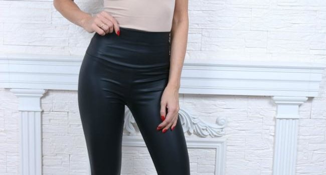 Cute Skinny Faux Leather Leggings