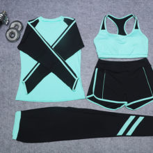 4 Piece Set Women Fitness Clothes [4 Colors]