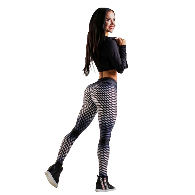 Spandex Sexy Gradient Color Women Fitness Leggings