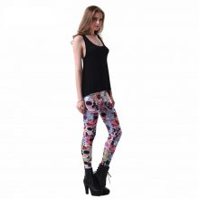 Digital Print Day Of The Dead Leggings