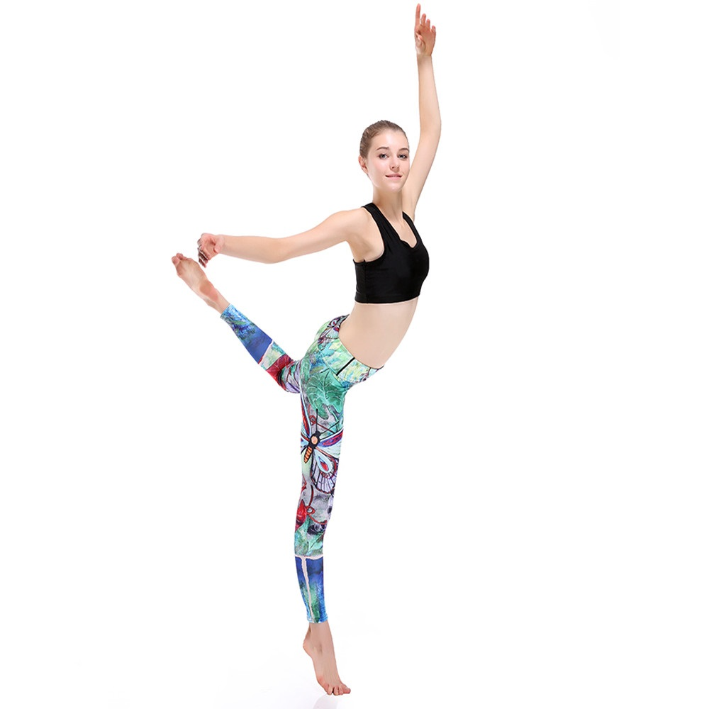 3D Print Butterfly Adventure Time Push Up Leggings
