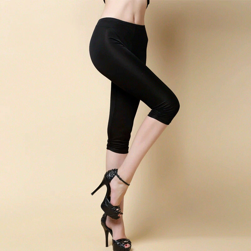 100% Silk Capri Leggings