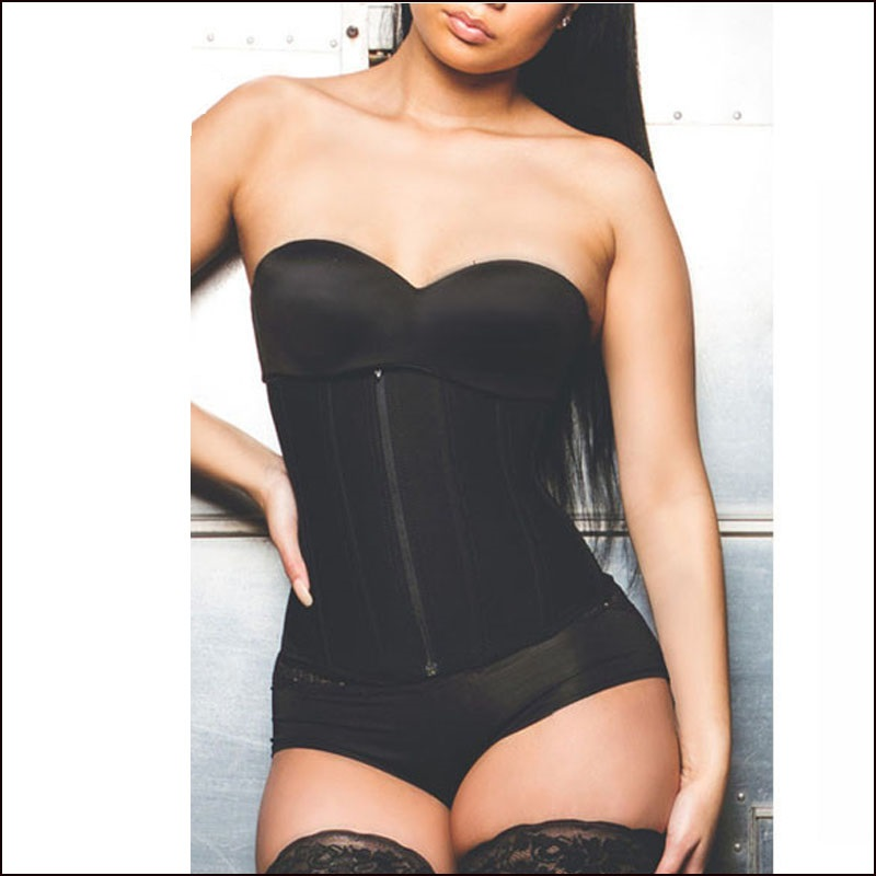 Zipper Rubber Latex Waist Trainer