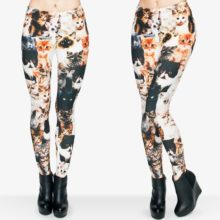 Cats 3D Full Printing Punk Leggings