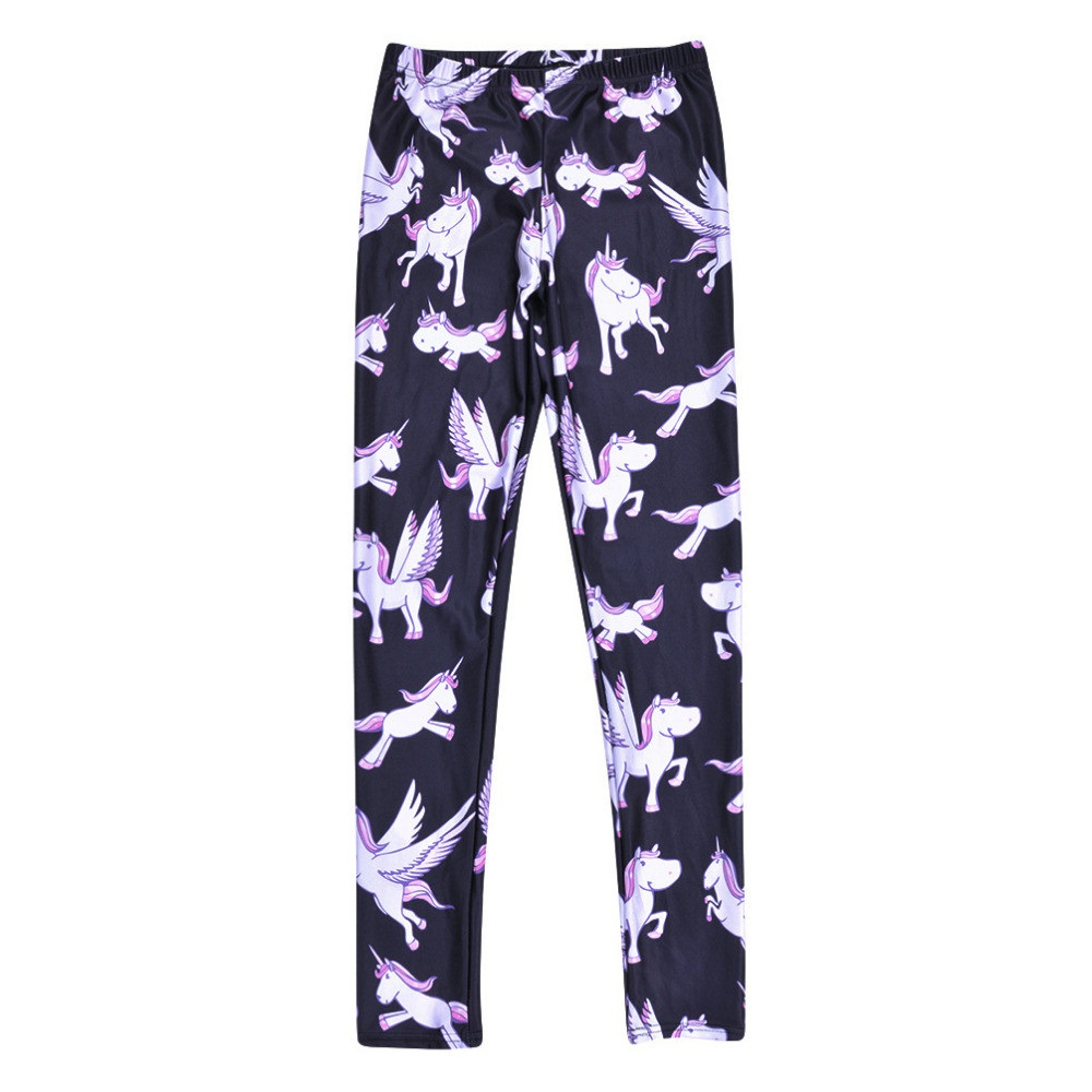 High Waist Push Up Purple Unicorn Leggings