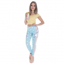 Unicorn Stars Printing Leggings