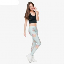 Muffin Cupcake Dots Fitness Leggings
