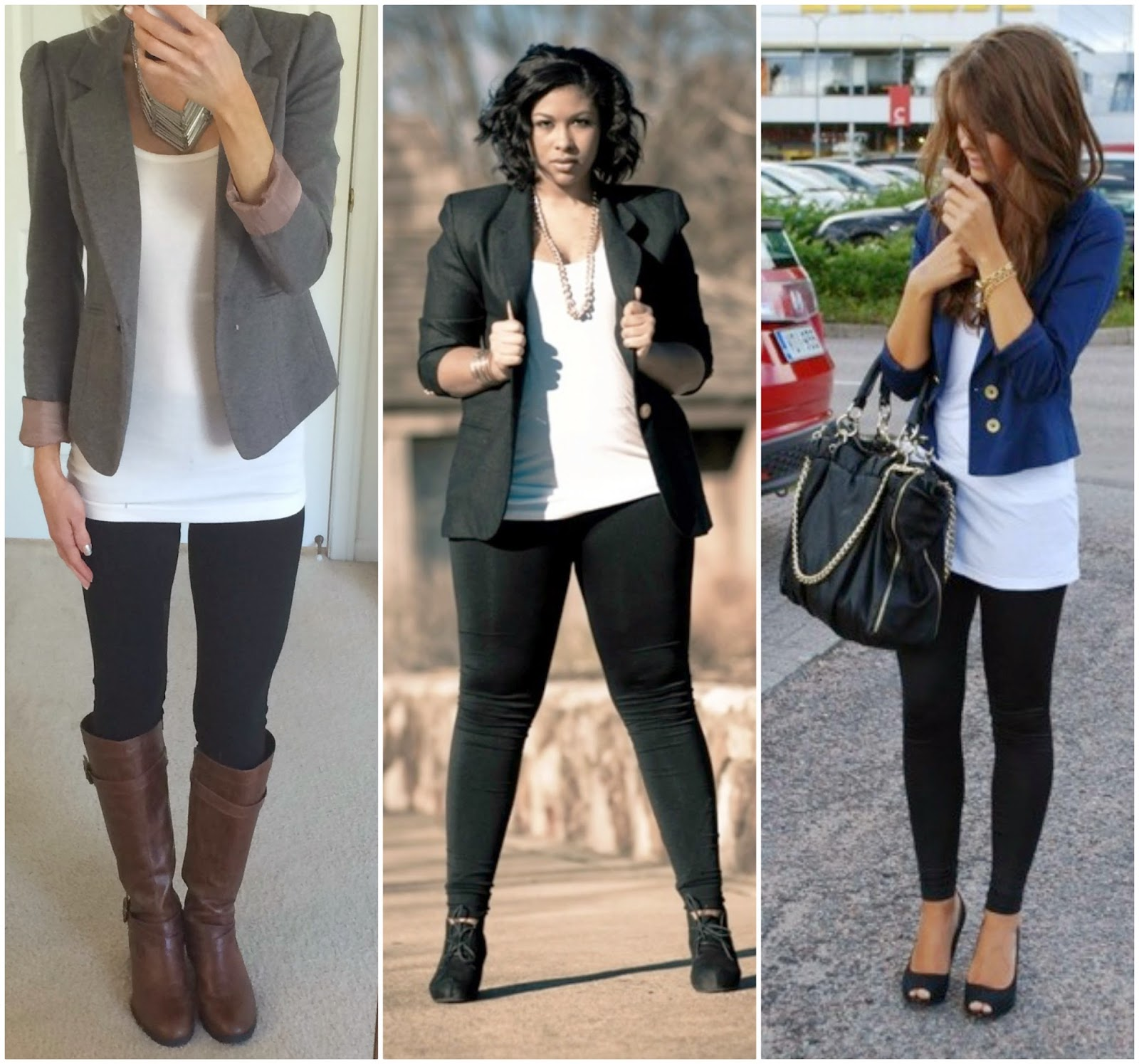 Leggings with blazer