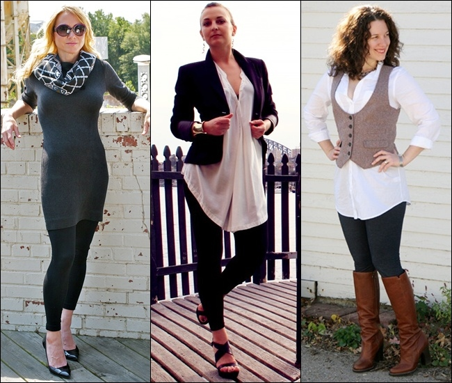 Wear leggings with Dresses and Tunics