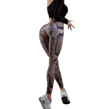 Snake Printing Push Up Fitness Leggings