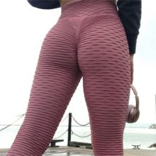 Fitness Polyester Solid High Waist Push Up Leggings